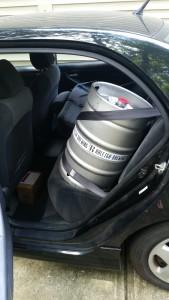 Keg in Toyota Corolla